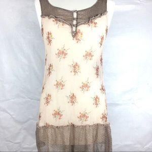 Heritage 1981 100 % Silk Boho Tunic top